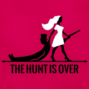 The hunt is over JGA Junggesellenabschied Party T-shirts - T-shirt dam