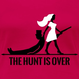 The hunt is over JGA Junggesellenabschied Party T-shirts - Premium-T-shirt dam