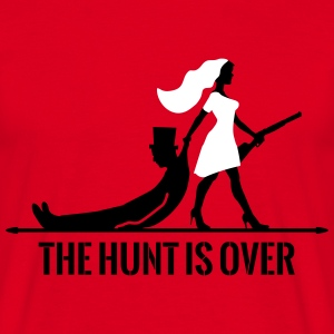 The hunt is over JGA Junggesellenabschied Party T-Shirts - Männer T-Shirt