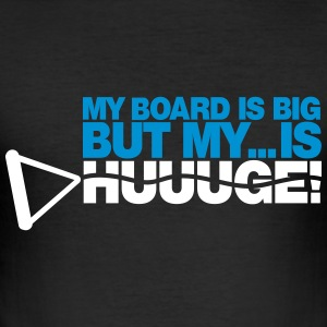 My boad is big - Wakeboarder - Männer Slim Fit T-Shirt