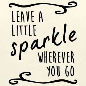 leave a little sparkle wherever you go - Frauen T-Shirt mit V-Ausschnitt
