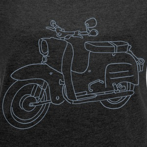Scooter Simson Schwalbe T-Shirts - Women's T-shirt with rolled up sleeves