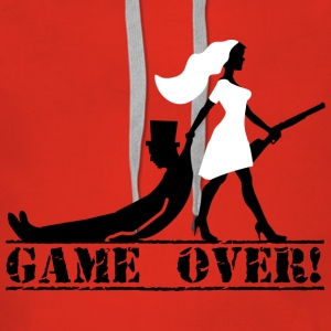 the hunt is over JGA Game over die Jags ist vorbei - Frauen Premium Hoodie