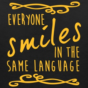 everyone smiles in the same language - Frauen T-Shirt mit V-Ausschnitt