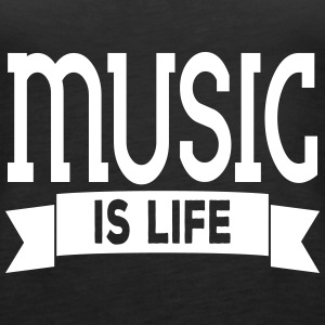 music is life Tops - Camiseta de tirantes premium mujer