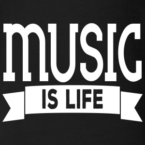 music is life Babybody - Økologisk kortermet baby-body