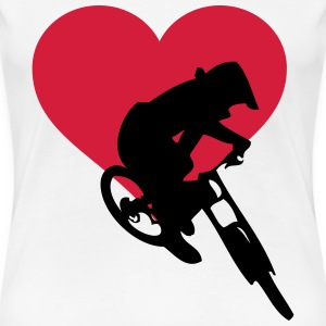Downhill love - Women's Premium T-Shirt
