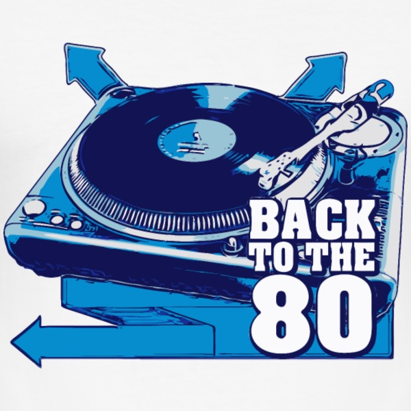platine back to the 80 Tee shirts - Tee shirt près du corps Homme