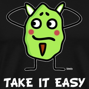 Grünling -  take it easy T-Shirts - Männer Premium T-Shirt