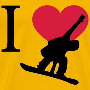 I love snowboarding - Men's Premium T-Shirt