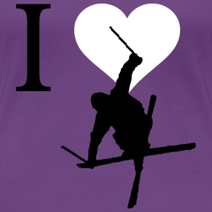 I love ski - Women's Premium T-Shirt