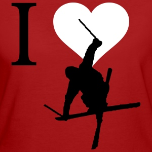 I love Ski - Frauen Bio-T-Shirt