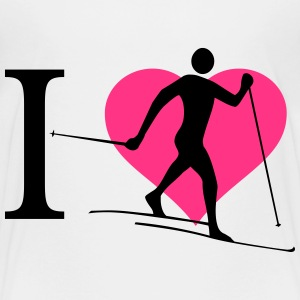 Ik hou van cross-country skiën - Teenager Premium T-shirt