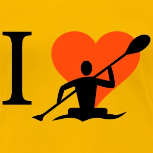 I love Canoe - Women's Premium T-Shirt