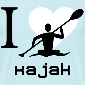 I love kayaking - Men's T-Shirt