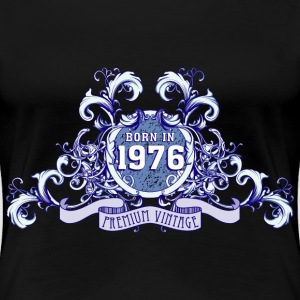 042016_born_in_the_year_1976bpng T-Shirts - Frauen Premium T-Shirt