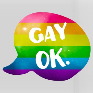 Gay Ok Rainbow LGBT Mugs & Drinkware - Panoramic Mug