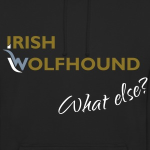 Irish Wolfhound what else? gold-silber-weiß - Unisex Hoodie