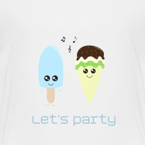 Ice cream party blue Tee shirts - T-shirt Premium Enfant