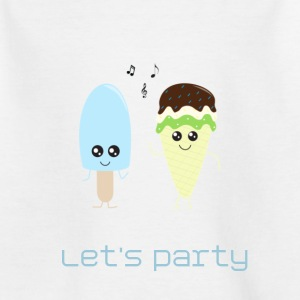 Ice cream party blue Tee shirts - T-shirt Enfant