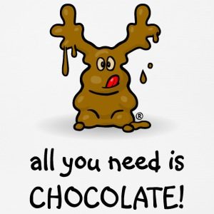 Elch Elmondo® – ALL YOU NEED IS CHOCOLATE! Sonstige - Mousepad (Querformat)