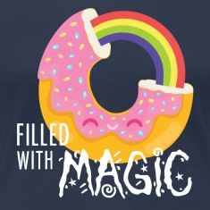 Marinblå Donut - filled with magic T-shirts