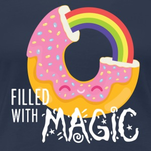 Marineblå Donut - filled with magic T-shirts - Dame premium T-shirt