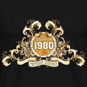 042016_born_in_the_year_1980c T-Shirts - Männer Premium T-Shirt