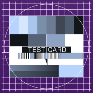 Fernseh-Testbild test card Vintage Retro TV-screen - Stoffbeutel