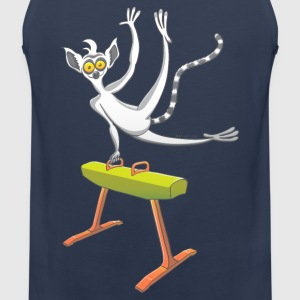 Athletic Lemur Performing on the Pommel Horse Sports wear - Men's Premium Tank Top