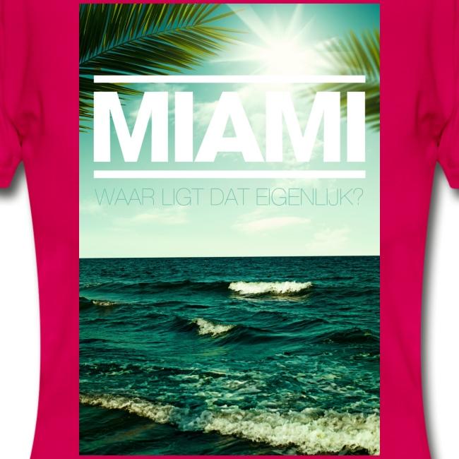 Miami vrouwen t-shirt