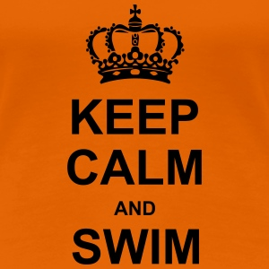 Keep Calm and Swim T-shirts - Dame premium T-shirt