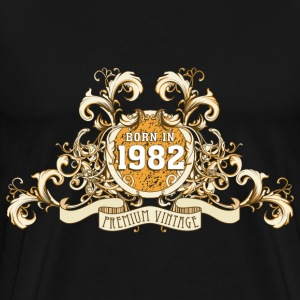 042016_born_in_the_year_1982c T-Shirts - Männer Premium T-Shirt