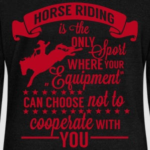 Horse riding - sport Sweat-shirts - Pull Femme col bateau de Bella