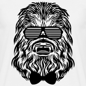 Chewbacca hipster Shirt Black & White - Männer T-Shirt