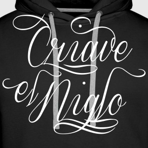 Chicano letter Sweat-shirts - Sweat-shirt à capuche Premium pour hommes
