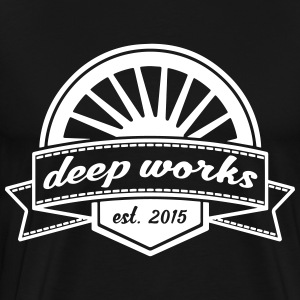 Big Logo Deep-Works - Männer Premium T-Shirt