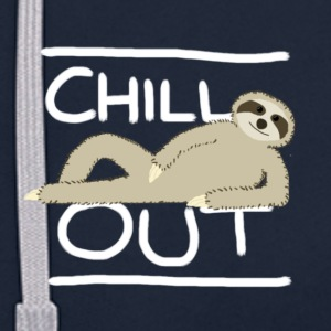 Sloth Chill Out Hoodies & Sweatshirts - Contrast Colour Hoodie