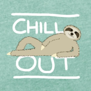 Sloth Chill Out T-Shirts - Women's T-shirt with rolled up sleeves