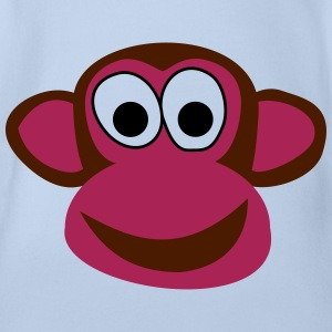 Funny monkey - Organic Short-sleeved Baby Bodysuit