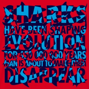Sharks shaping evolution - T-shirt Homme