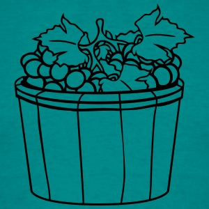 grape grapes harvest wine stomp tasty bucket vat o T-Shirts - Men's T-Shirt