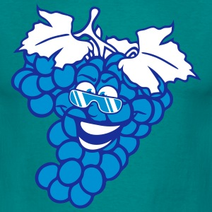 grapes grape harvesting tasty wine comic face cool T-Shirts - Men's T-Shirt