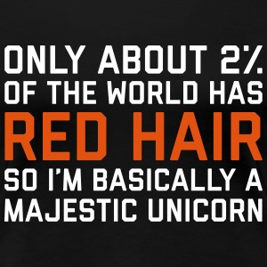 Red Hair Funny Quote Tee shirts - T-shirt Premium Femme