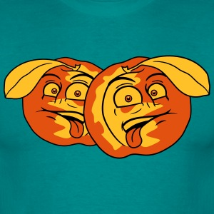 fruit comic cartoon gezicht afschuw grappig team m T-shirts - Mannen T-shirt