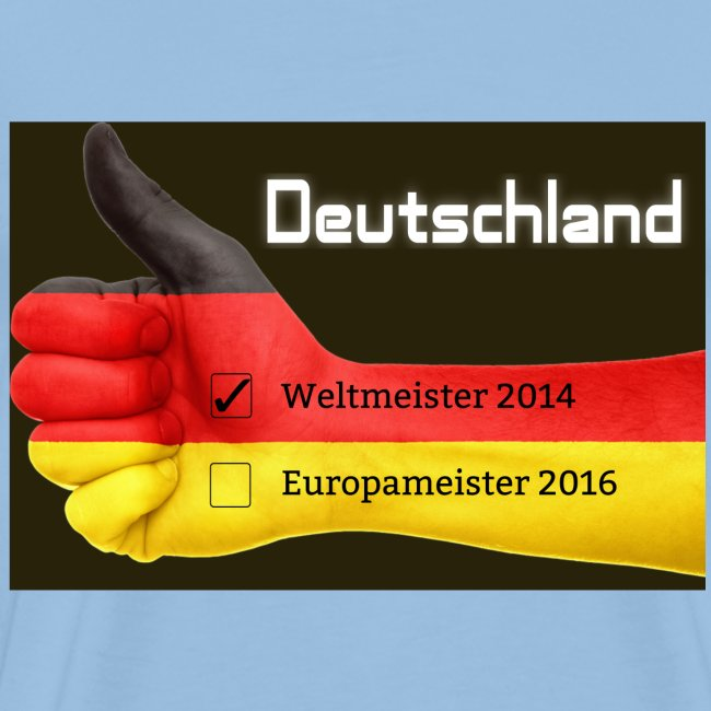 Männer Premium T-Shirt Daumen Deutschland Europameister 2016 Sonnengelb
