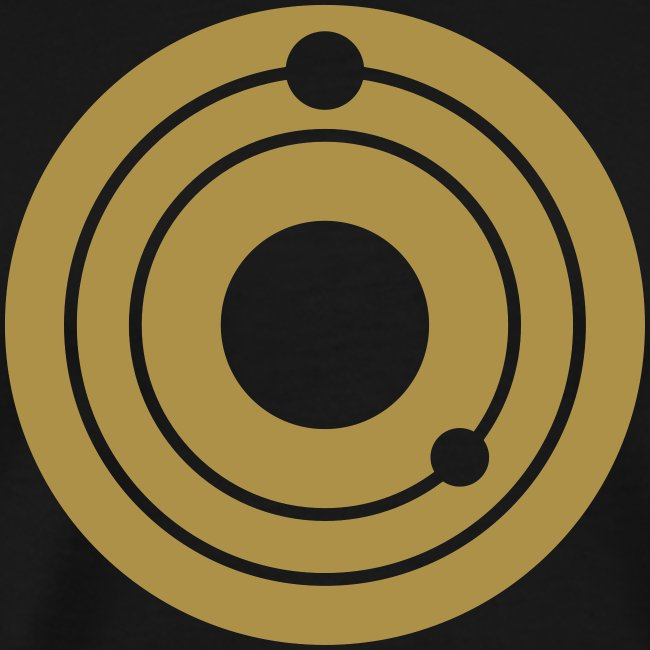 "Kosma Solarius man t-shirt ""gold logo"""