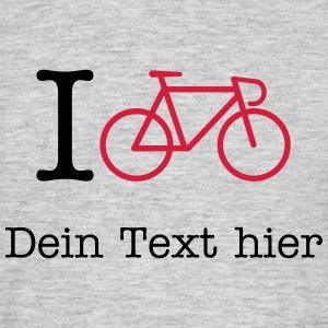 I Bicycle - (Your City) T-shirts - T-shirt herr