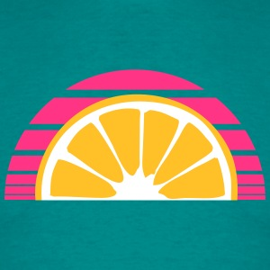 orange lemon half cut eating sour sweet tasty patt T-Shirts - Men's T-Shirt