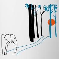 Motiv ~ Elefant mot solnedgången - on the road..